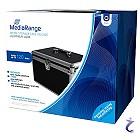 Archivierungskoffer Aluminium Optik schwarz für 120 Discs BD/CD/DVD's