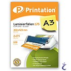 Printation Laminierfolien A3 2x 175 mic 426x303mm - 100 Laminiertaschen