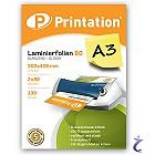Printation Laminierfolien A3 2x 80 mic 426 x 303mm - 100 Laminiertaschen