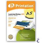 Printation Laminierfolien A5 2x 125 mic 216x154mm  100 Laminiertaschen