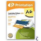 Printation Laminierfolien A6 2x 125 mic 111x154mm - 100 Laminiertaschen