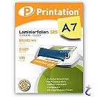 Printation Laminierfolien A7 2x 125 mic 111x80mm - 100 Laminiertaschen