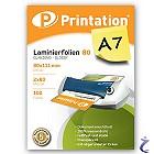 Printation Laminierfolien A7 2x 80 mic 111x80mm - 100 Laminiertaschen