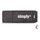 Simply 8 GB USB 2.0 Speicherstick mit Kappe 8GB schwarz