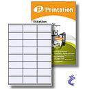 Printation 70 x 36 mm Etiketten weiß - 100 Blätter 3x8