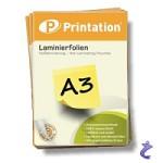 Printation Laminierfolien A3 2x 125 mic 426 x 303mm - 25 Laminiertaschen