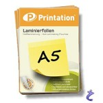 Printation Laminierfolien A5 2x 125 mic 216 x 154mm - 25 Laminiertaschen