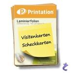 Printation Laminierfolie Visitenkarte 80 mic 60x90mm 100 Laminiertaschen