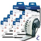10x Brother P-touch DK-22214 12mm Endlos-Etiketten DK22214 Original