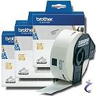3x Brother P-touch DK-11201 Einzel Etiketten DK11201 Adress-Etiketten