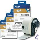 3x Brother P-touch DK-11208 Einzel-Etiketten 38 x 90mm DK11208 weiß