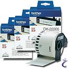 3x Brother P-touch DK-22205 Endlos Etiketten 62mm x 30,48m DK22205