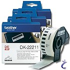 3x Brother P-touch Endlos-Etiketten DK-22211 DK22211 Film