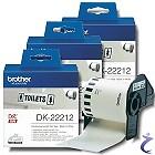 3x Brother P-touch Endlos-Etiketten DK-22212 DK22212 Film