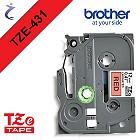 Brother P-touch Schriftband TZe431 TZe-431 schwarz rot - CIV