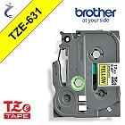 Brother P-touch Schriftband TZe631 TZe-631 schwarz gelb - CIV TZ-631 CIV