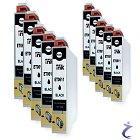 10x IntuiFlex kompatible Patrone für EPSON T0611 schwarz - DS-ET0611