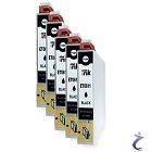 5x IntuiFlex kompatible Patrone für EPSON T0611 schwarz - DS-ET0611