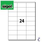 Sigel 70x36 mm Etiketten weiß permanent 25 Blatt LA131 600 Stk