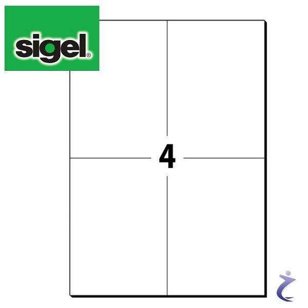 Sigel 105x148 mm Etiketten weiß permanent 25 Blatt LA164 100 Stk