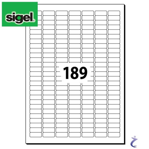 Sigel 25,4x10 mm Etiketten weiß wiederablösbar 25 Blatt LA202 4725 Stk