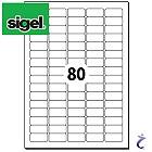 Sigel 35,6x16,9 mm Etiketten weiß wiederablösbar 25 Blatt LA203 2000