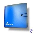 Wallet - CD-Buch / CD-Mappe blau transparent für 12 BD / CD / DVD's