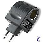 12V Netzteil mit Zigarrettenanzünder Buchse - 230V/12V 1000mA