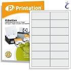 Printation Etiketten 95 x 40 mm weiß - 140 Aufkleber 95x40 bedruckbar