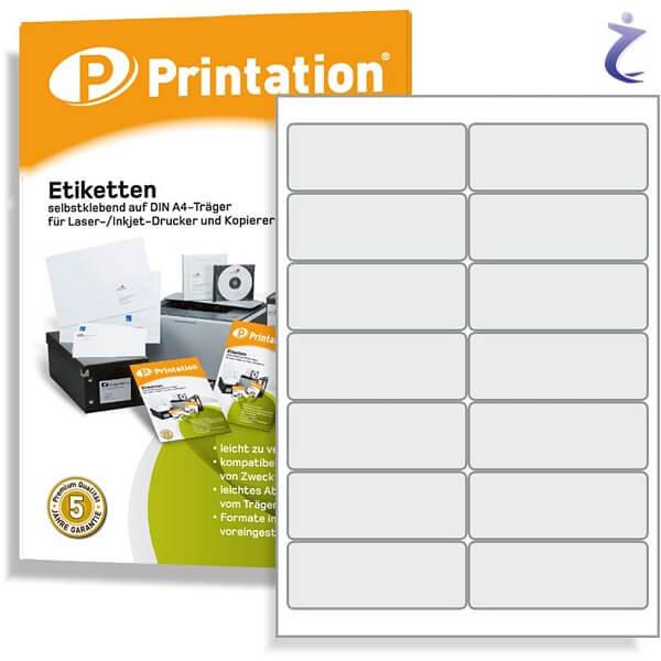Printation Etiketten 99,1 x 38,1 weiß - 140 Adressaufkleber 99,1x38,1