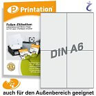 Wetterfeste Polyester Etiketten 105 x 148,5 mm weiß bedruckbar DIN A4