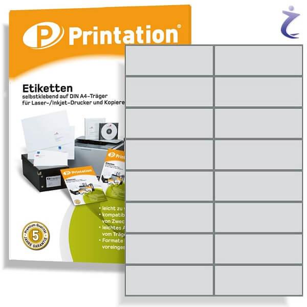 Printation Etiketten 105 x 37 weiß  160 Aufkleber 105x37 bedruckbar A4