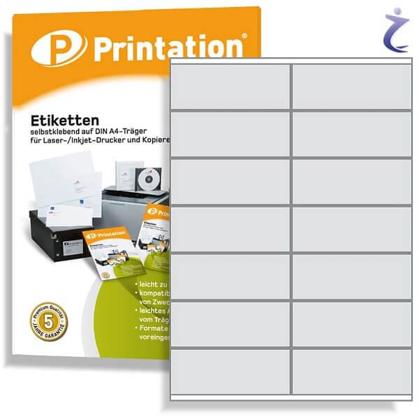 Printation Etiketten 105 x 41 weiß  140 Aufkleber 105x41 bedruckbar A4