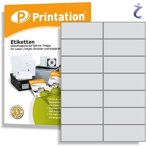 Printation Etiketten 105 x 42,4 weiß 140 Aufkleber 105x42,4 bedruckbar
