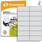 Printation 105 x 42,4 Etiketten weiß klebend  105x42,4 Klebeetiketten