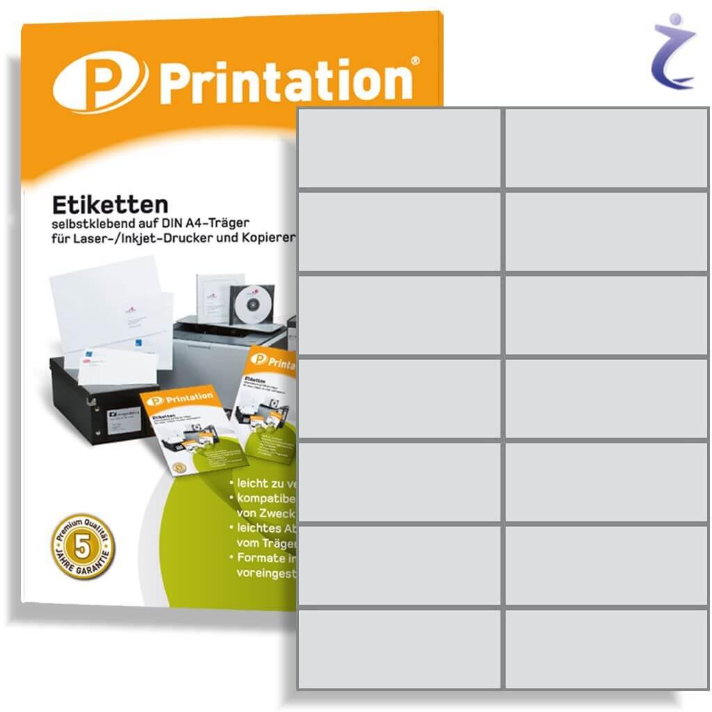 Universal Etiketten 105 x 42,4 mm 500 Blatt 7000 Stück Inkjet Laser Kopierer