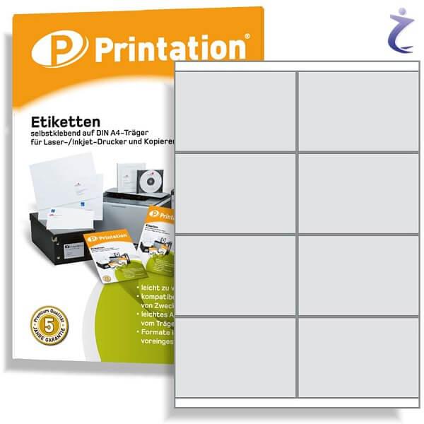 Printation Etiketten 105 x 70 weiß   80 Aufkleber 105x70 bedruckbar A4
