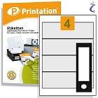 Printation Etiketten 192 x 61 weiß  40 Ordner Rückenschilder 192x61 A4