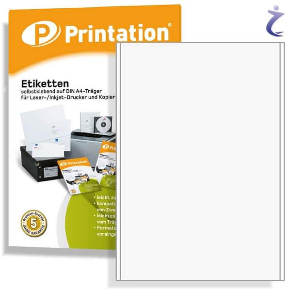 Printation Etiketten 200 x 297 mm weiß  10x 200x297 Paketaufkleber A4