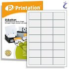 Printation Etiketten 63 x 39,5 mm weiß  210 Adressaufkleber 63x39,5 A4
