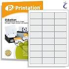Printation Etiketten 64,3 x 33,8 weiß - 240 Aufkleber 64,3x33,8 auf A4