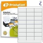 Printation Etiketten 66 x 33,9 weiß - 240 Aufkleber 66x33,9 bedruckbar