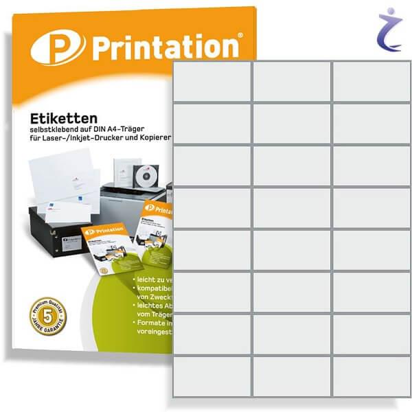 Printation Etiketten 70 x 37 mm weiß 240 Aufkleber 70x37 Internetmarke