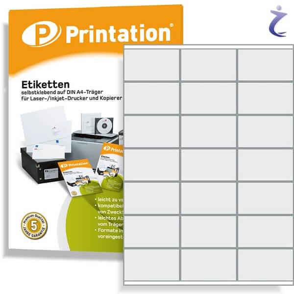 Printation Etiketten 70 x 41 mm weiß -  210 Frankieretiketten 70x41 A4