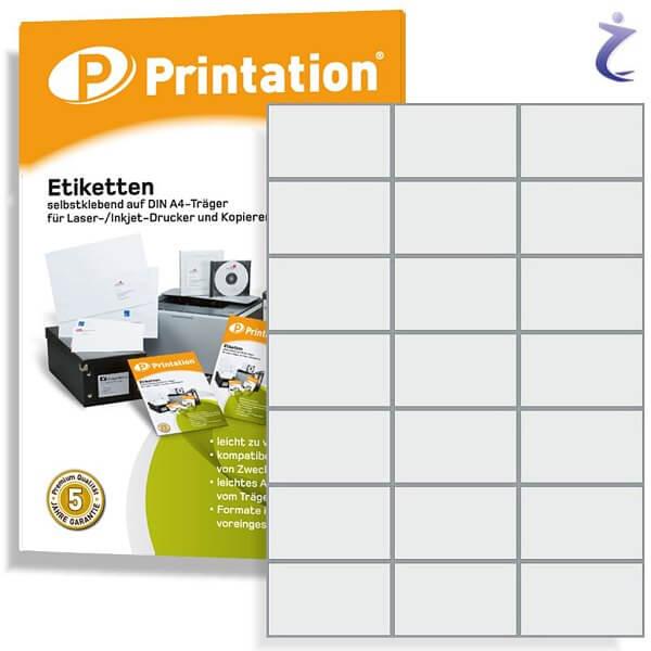 Printation Etiketten 70 x 42,4 mm weiß - 210 Adressetiketten 70x42,4