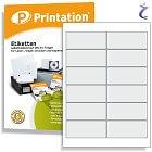 Printation Etiketten 97 x 42,3 mm weiß -120 Internetmarken 97x42,3