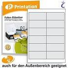 Wetterfeste Etiketten 97 x 42,4 mm weiß wasserfest bedruckbar DIN A4