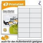 Wetterfeste Folien-Etiketten 99,1 x 42,3 mm transparent bedruckbar A4