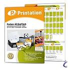 Wetterfeste Etiketten Auswahl - Printation Weiß u. Transparent auf A4