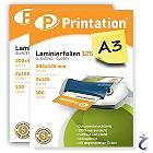 Printation Laminierfolien A3 2x 125 mic 426x303mm - 200 Laminiertaschen